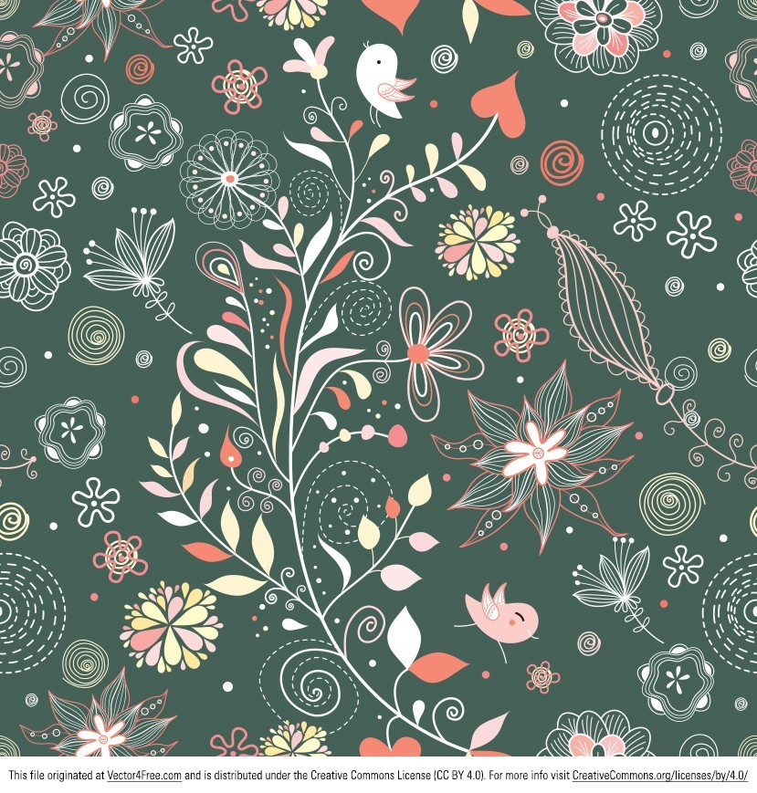 Have a look at this amazing Vintage Floral Pattern Vector! New and free, you can definitely use this vintage floral pattern for so many of your projects. This vintage floral pattern is an important piece in any designer's resource pack. Get it today!