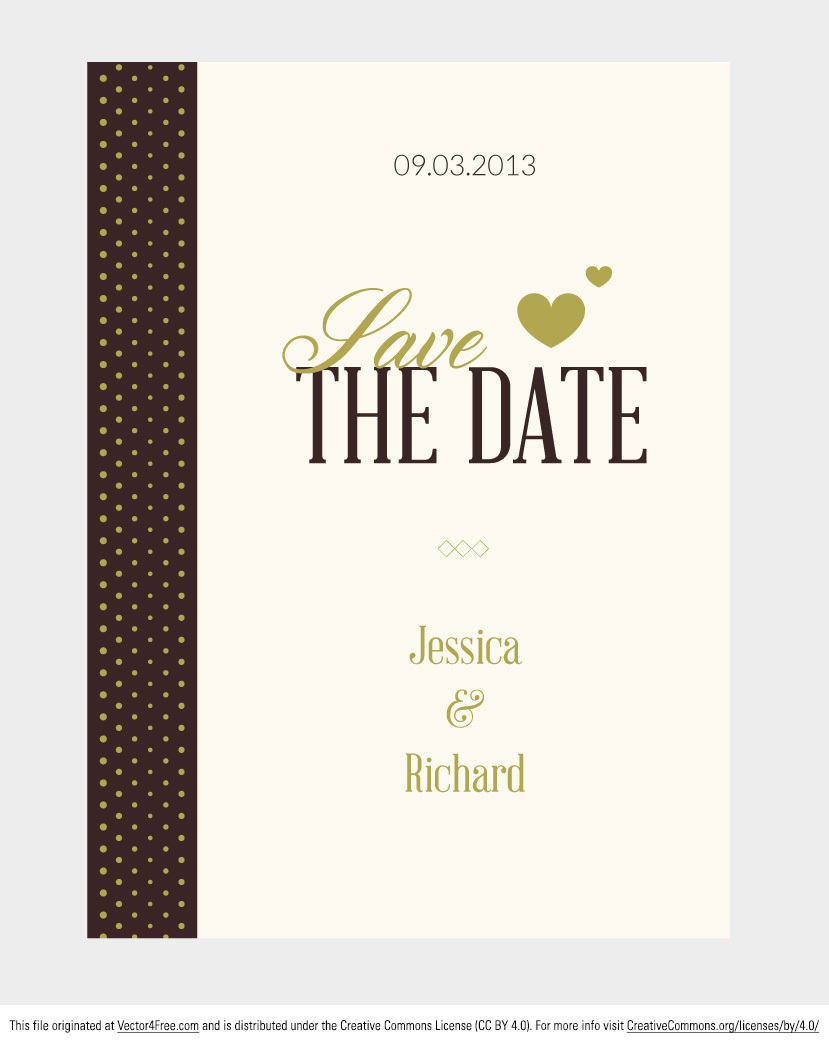 Free vector wedding invitation stopboris