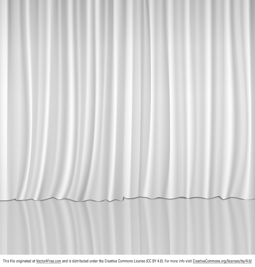 White Vector Curtain Stage With Background This Would Be Perfect