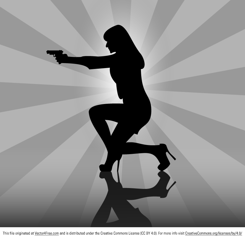 Today we have for you Woman with a Gun Silhouette free vector graphic. Hope you like it. We are waiting for your opinion!