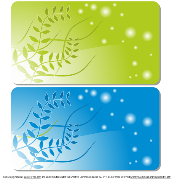 Gift or credit card templates. Free vector illustration