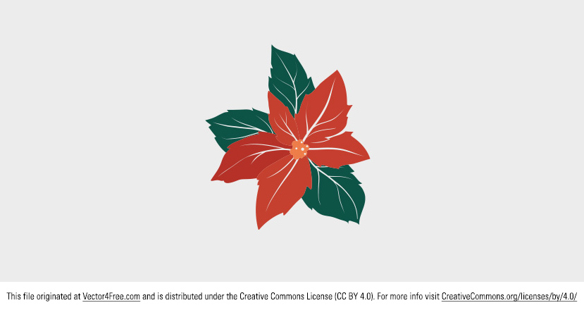 Today's freebie is a beautiful Christmas poinsettia vector flower. Feel free to use poinsettia vector flower in commercial and non-commercial projects, personal websites and printed work, as long as it's a part of a larger design.