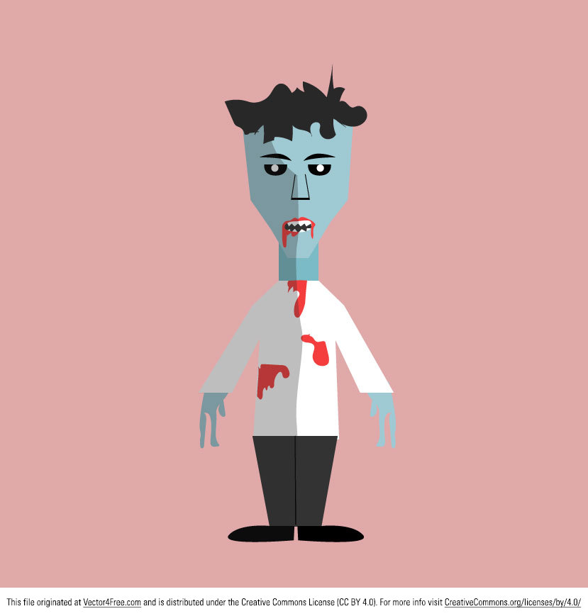 Here's a great flat style Free Zombie Vector Art Download from http://www.digimadmedia.com Perfect for your Halloween designs!